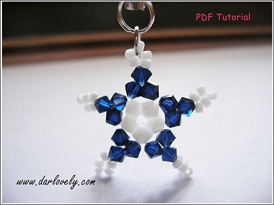 Free Blue White Star Charm Tutorial