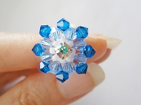 Monte Blue Flower Ring Tutorial