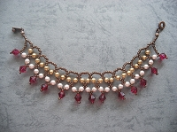 Classic Gold Ruby Dangling Necklace/ Bracelet Tutorial