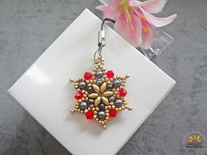 Golden Red Flower Pendant Tutorial