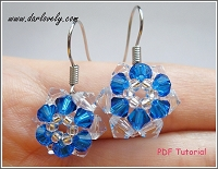 Free Blue Flower Earrings Tutorial