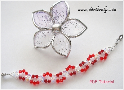 Free Red Curvy Bracelet Tutorial