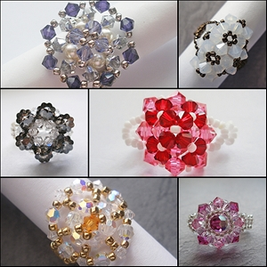 Flower Ring Series Bundle II (6 Tutorials)