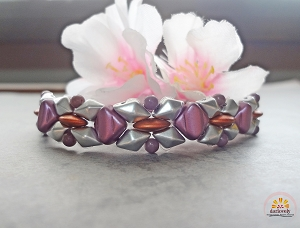 Angular Flower Bracelet Tutorial