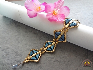 Golden Blue Tango Bracelet Tutorial