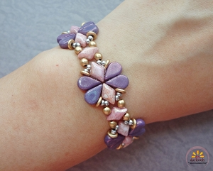 Pink Purple Par Puca Butterfly Bracelet Tutorial