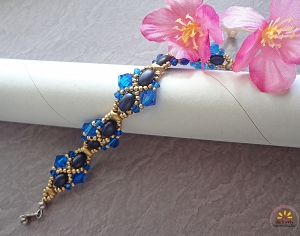 Samos Golden Blue Bracelet Tutorial