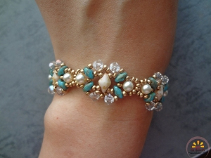 Pearly Duos Bracelet Tutorial