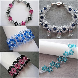 Flower Bracelets Bundle Series III Tutorials (5 Tutorials)