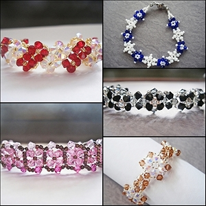Flower Bracelets Bundle Series II Tutorials (5 Tutorials)