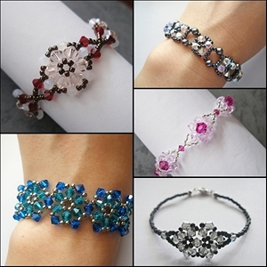 Flower Bracelets Bundle Series I Tutorials (5 Tutorials)